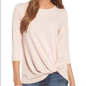 Gibson twist front knit sweater pullover Lg (L3/5)